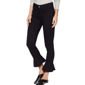 Levis 711 Skinny Ruffle Ankle Crop Black Jeans